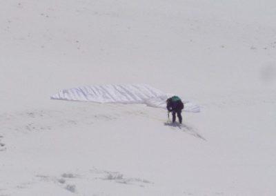 cris in campetto con neve - corso parapend