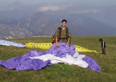 davide a fiocco - corso parapendio 2 2002 - Dove non osano le aquile