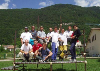 gruppo sul podio - corso parapendio 1 2002