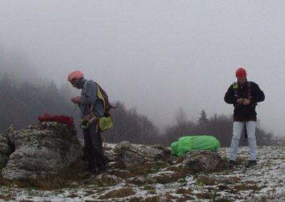 stef e rob campetto neve - corso parapendio 1 2002