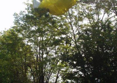 vela di efrem su pianta - corso parapendio n2 2003